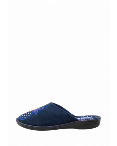 Синие текстильные домашние тапочки Белста