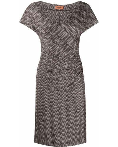 Шерстяное платье миди с вышивкой с вырезом Missoni