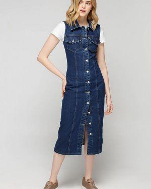 Джинсовое платье синее весеннее Musthave