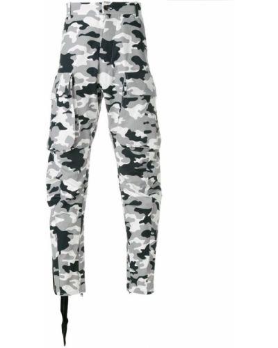 Зауженные брюки серые карго Unravel Project