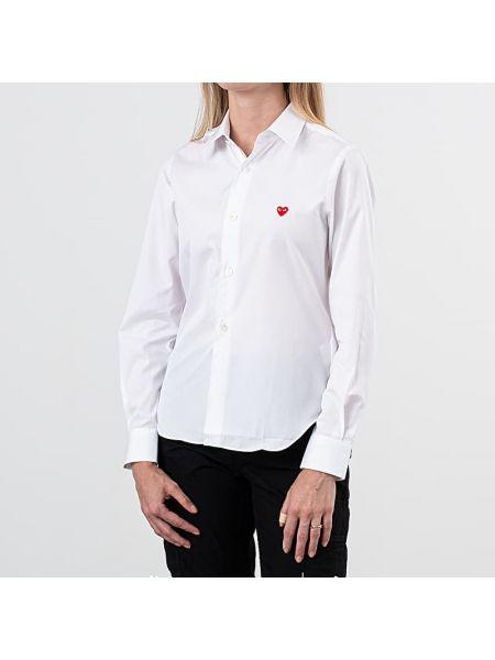 Biały koszula Comme Des Garcons Play