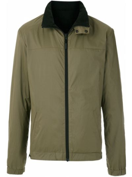 Прямая зеленая куртка двусторонняя на молнии Osklen