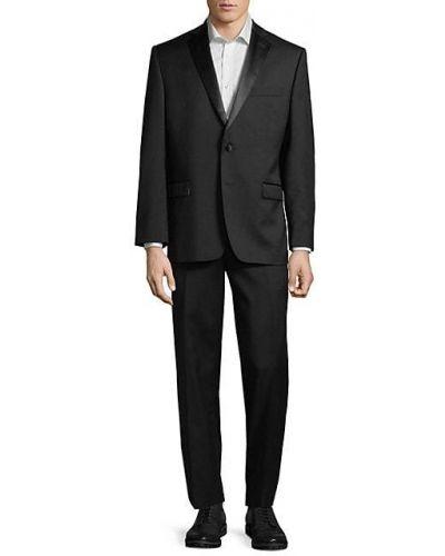 Czarny smoking z długimi rękawami wełniany Calvin Klein