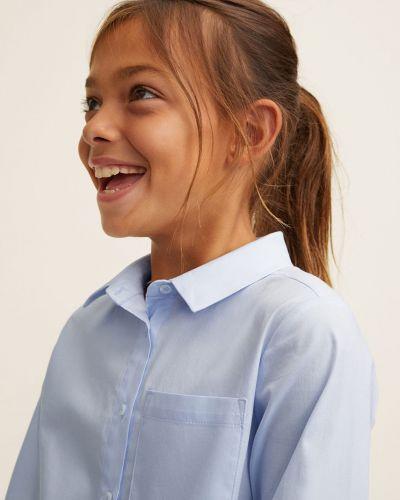 Блуза с воротником длинная Mango Kids