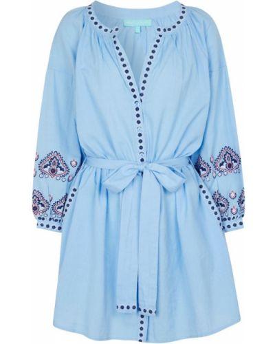 Niebieski kaftan bawełniany Melissa Odabash