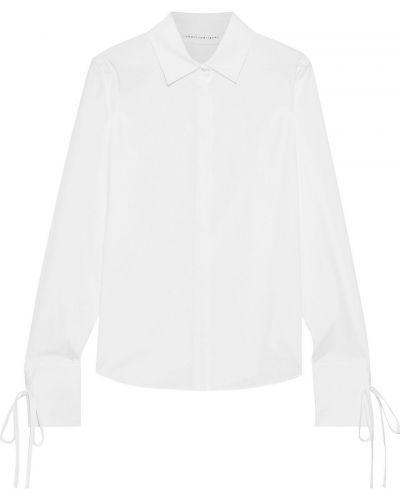 Хлопковая белая рубашка с манжетами Robert Rodriguez