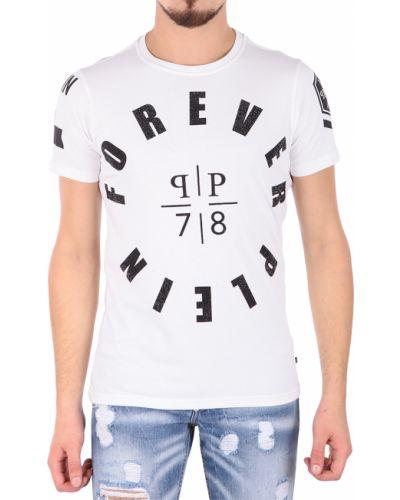 Белая хлопковая футболка Philipp Plein