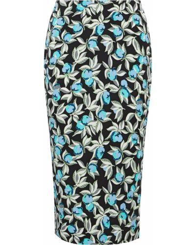 Spódnica midi z wiskozy z printem turkusowa Diane Von Furstenberg
