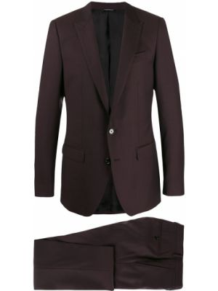 Красный прямой костюмный костюм на пуговицах Dolce & Gabbana