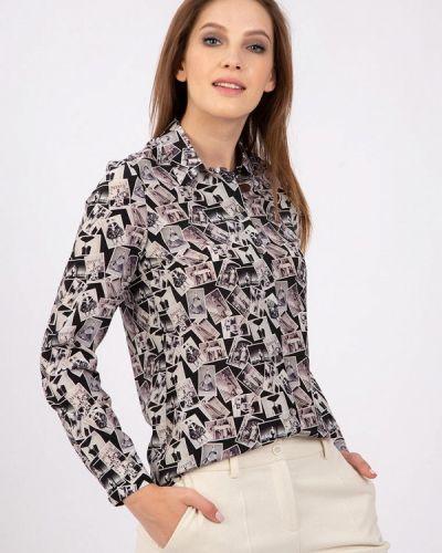 С рукавами черная блузка энсо