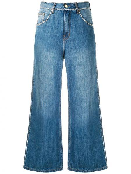 Широкие джинсы со стразами на пуговицах с поясом свободного кроя Amapô