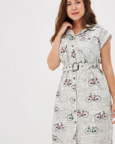 Повседневное платье серое осеннее Borboleta