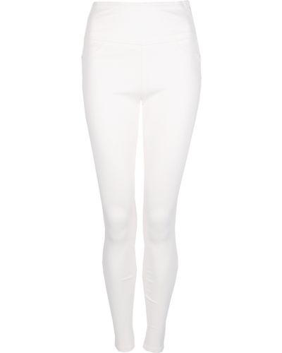 Białe jeansy z wysokim stanem z printem Patrizia Pepe