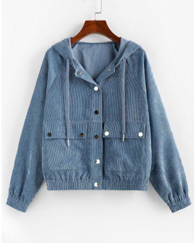 Куртка вельветовая - серая Zaful