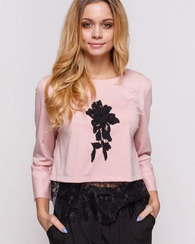 Блузка с длинным рукавом осенняя розовая Zubrytskaya