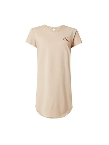 Beżowa koszula nocna bawełniana krótki rękaw Ck One