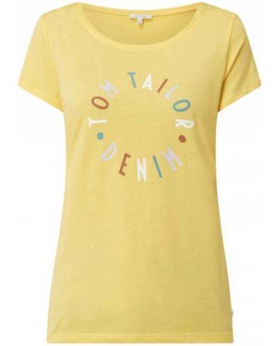 T-shirt z printem - niebieska Tom Tailor Denim