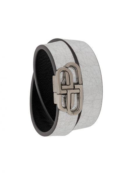 Skórzany bransoletka długo ze srebra Balenciaga