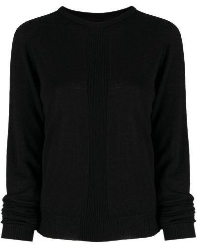 Prążkowany czarny sweter wełniany Rick Owens