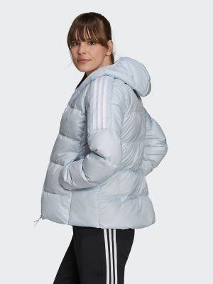 Куртка с капюшоном - голубая Adidas