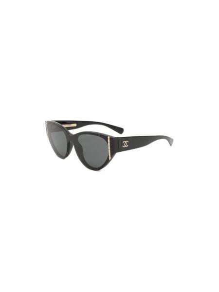 Муслиновые солнцезащитные очки со вставками Chanel