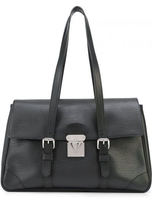 Czarna torebka srebrna Louis Vuitton