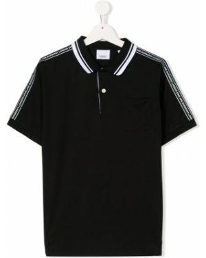 Рубашка черная Burberry Kids