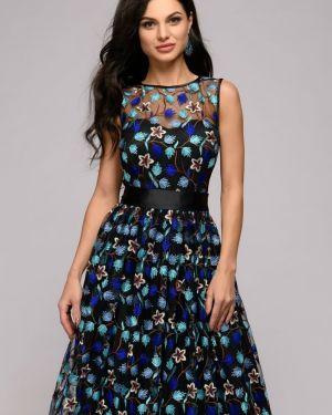 Вечернее платье с вышивкой сетчатое 1001 Dress
