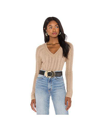 Коричневый акриловый вязаный свитер Majorelle