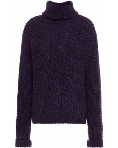 Fioletowy sweter wełniany Ba&sh
