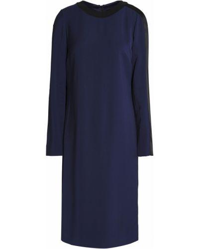 Платье атласное - синее Amanda Wakeley