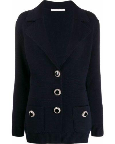 Синий пиджак с карманами Alessandra Rich