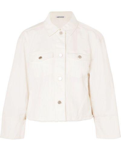 Хлопковая ватная белая джинсовая куртка Elizabeth And James