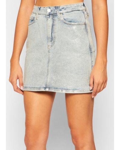 Spódnica jeansowa - niebieska Calvin Klein Jeans