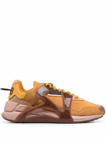Кроссовки на шнуровке - оранжевые Diesel