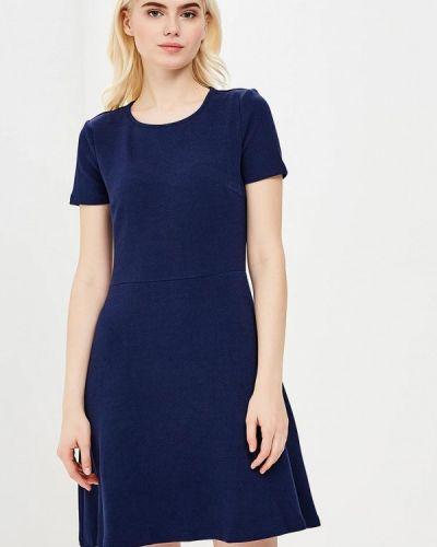 Синее платье с длинными рукавами Incity