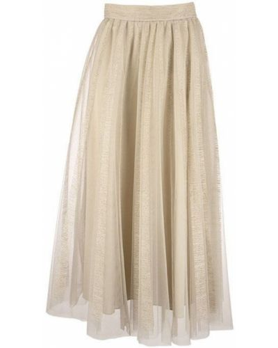 Klasyczna spódnica tiulowa w paski Brunello Cucinelli