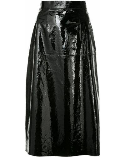 Кожаная юбка черная пачка Inès & Maréchal