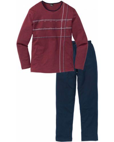 Пижама темно-синий бордовый Bonprix