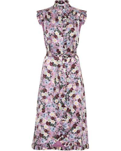 Платье с цветочным принтом шелковое Erdem