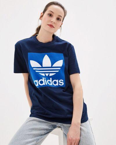 Поло синий Adidas Originals