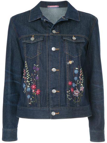 Хлопковая синяя джинсовая куртка с вышивкой Guild Prime