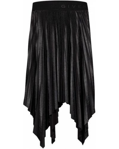 Pofałdowany czarny spódnica midi Givenchy