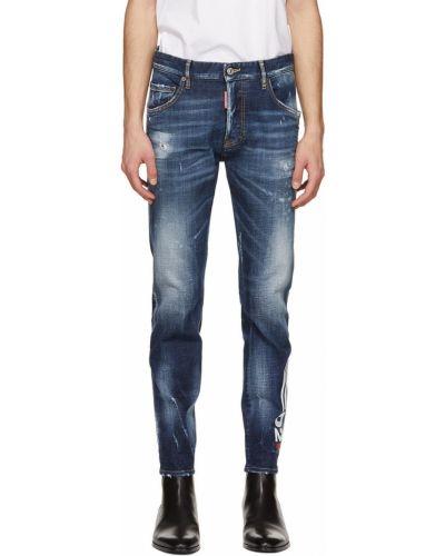 Белые джинсы с заплатками Dsquared2