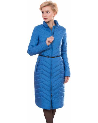 Пальто с капюшоном демисезонное с воротником-стойкой с поясом J-splash