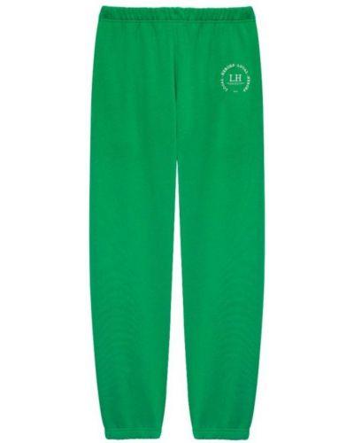 Zielone joggery z haftem bawełniane Local Heroes