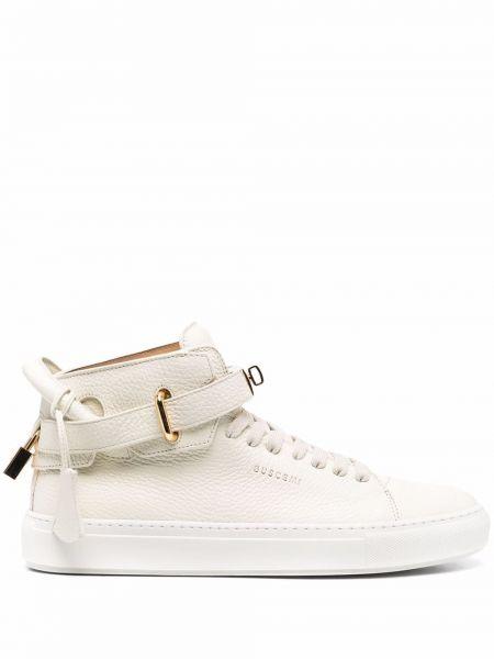 Białe złote sneakersy Buscemi