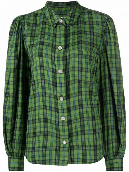 Рубашка в клетку - зеленая Essentiel Antwerp