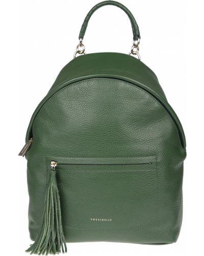 Рюкзак на молнии зеленый Coccinelle