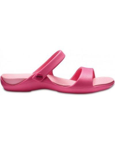 Розовые спортивные шлепанцы Crocs